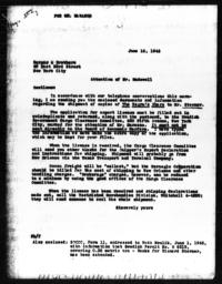 Letter from Florence Anderson to Harper & Brothers, June 10, 1943
