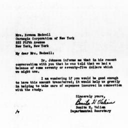 Letter from Bonita H. Valie...
