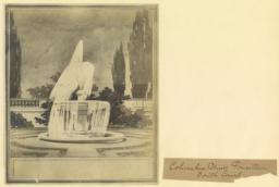 Columbia Univ. fountain. South court