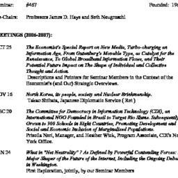 Schedules. Knowledge, Techn...