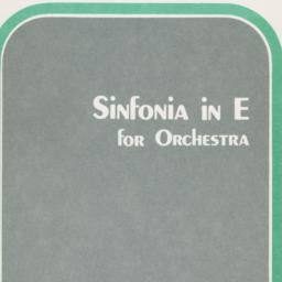 Sinfonia in E for Orchestra