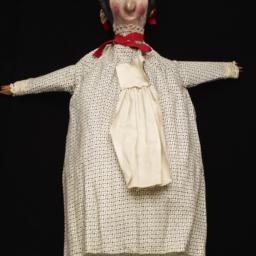 Female Hand Puppet With Bla...