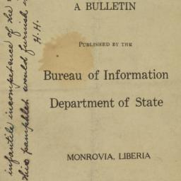 Liberia : a bulletin, 1923 ...