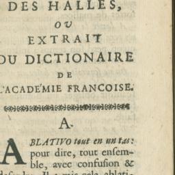 Dictionaire des Halles, ou,...