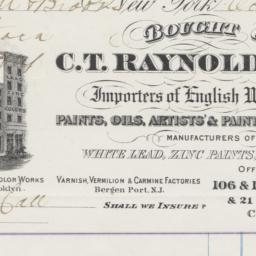 C. T. Raynolds & Co. Bill o...