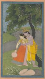 Krishna in the Garden with a Woman