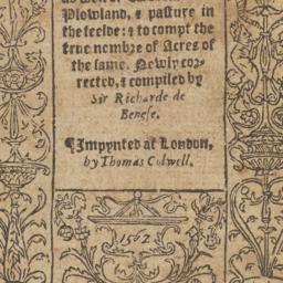 Boke of measurying of lande...