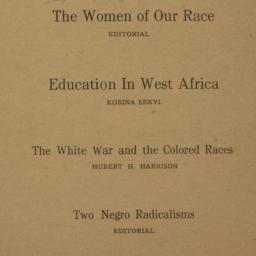 The     New Negro : Vol. 4....