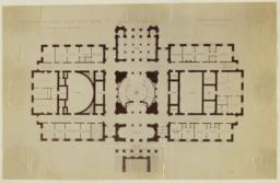 Design for the Rhode Island State House, Ground Floor Plan. McKim, Mead and White, Architects