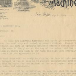 Garvin Machine Co. Letter