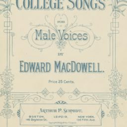 College Songs for Male Voices
