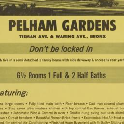 Pelham Gardens, Tiemann Ave...