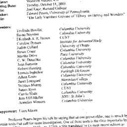 Minutes, 2005-10-11. Mediev...