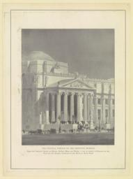 The Central portico of the Institute Museum. From the original design of Messrs. McKim, Mead and White, a copy of which is hanging on the wall of the central staircase of the Museum, main floor