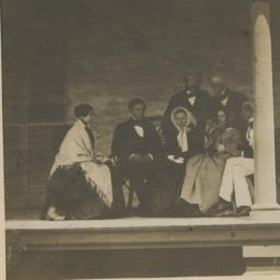 Group of Seven People on Porch