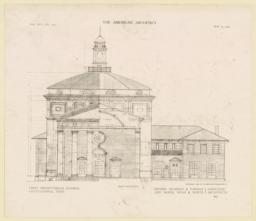 Front elevation. First Presbyterian Church, Chattanooga, Tenn. Messrs. Bearden & Forman and McKim, Mead & White, Associated Architects