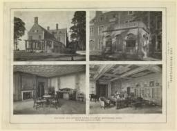 Plate 5. Exterior and interior views, House at Bretenahl, Ohio. McKim, Mead & White, Architects