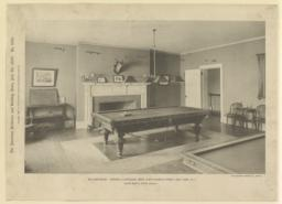 Billiard-room: Harvard Clubhouse, West Forty-Fourth Street, New York, N. Y. McKim, Mead & White, Architects
