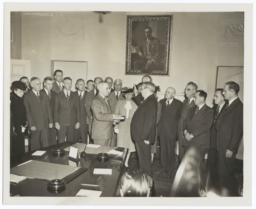 President Harry Truman takes the Oath of Office
