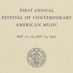 First Annual Festival of Co...