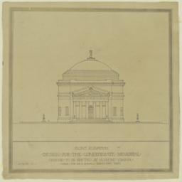 Design for the Confederate Memorial Proposed to be Erected at Richmond, Virginia. Front Elevation. Scheme No. I