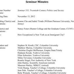 Minutes, 2012-11-15. Twenti...