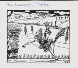 Illustration of a horseman