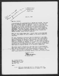 Letter from T. Arnold Hill to Richard Sterner, July 22, 1940