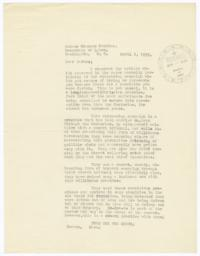 Anonymous letter sent to Secretary of Labor Frances Perkins about antisemitism