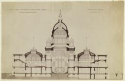 Design for the Rhode Island State House, Longitudinal Section. McKim, Mead and White, Architects