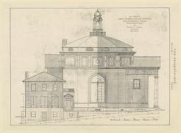 Plate 64. East elevation. First Presbyterian Church, Chattanooga, Tenn. McKim, Mead & White, and Bearden & Foreman, Associated Architects