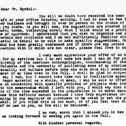 Letter from Ralph Linton to...