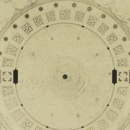 Plan of fountain at scale