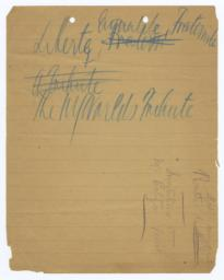 Autograph Drafts Relating to Dedication of Statue of Liberty