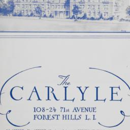 The     Carlyle, 108-24 71 ...