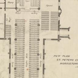Pew plan. St. Peters Church...