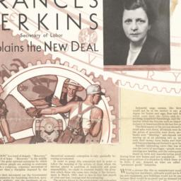 Frances Perkins, Secretary ...