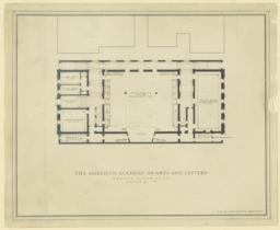 The     American Academy of Arts and Letters. Ground floor plan