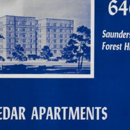 Cedar Apartments, 6400 Saun...