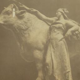 [Woman with bull]