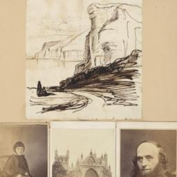Four images: Drawing of a L...