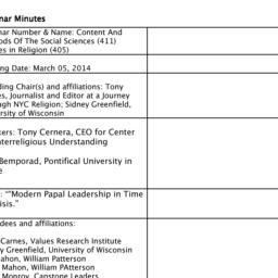 Minutes, 2014-03-05. Conten...