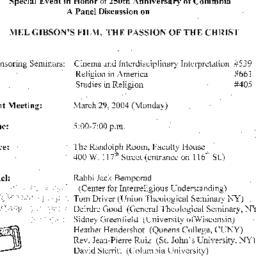 Announcements, 2004-05-04. ...