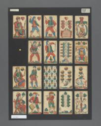 Standard deck of playing cards with German suits, Bohmisch pattern