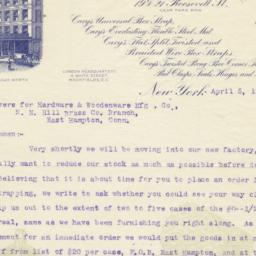 Cary Manufacturing Co. letter