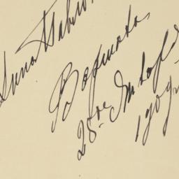 Anna Pavlova's Autograph