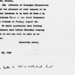 Letter from Carnegie Corpor...
