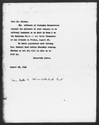 Letter from Carnegie Corporation of New York Officers to William B. Bryant, August 28, 1940