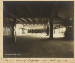 8. General view of baggage room looking west