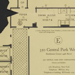 350 Central Park West, E